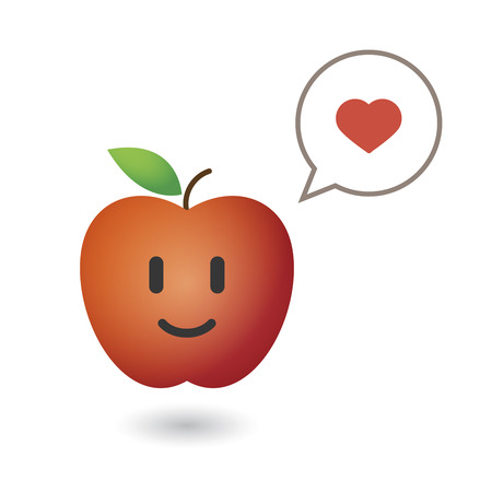 An illustration of a cute red fresh apple Stock Vector - 22272203