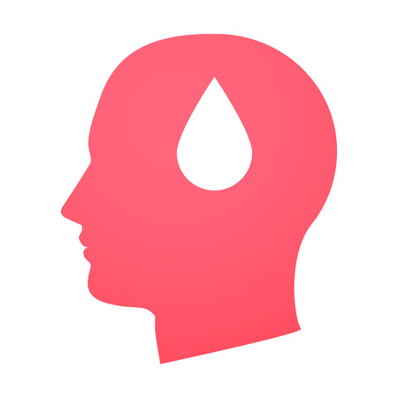 Illustration of an isolated head with an icon Stock Vector - 25434107