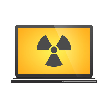Illustration of an isolated laptop with a icon Stock Vector - 25434115