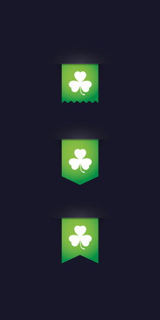 Illustration of an isolated tag  with a clover icon Illustration