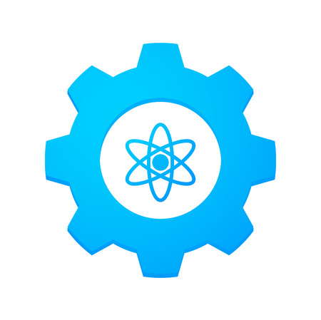 Illustrtion of an isolated gear with an icon Vector
