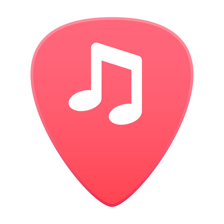 guitar pick: Illustration of an isolated colored guitar pick