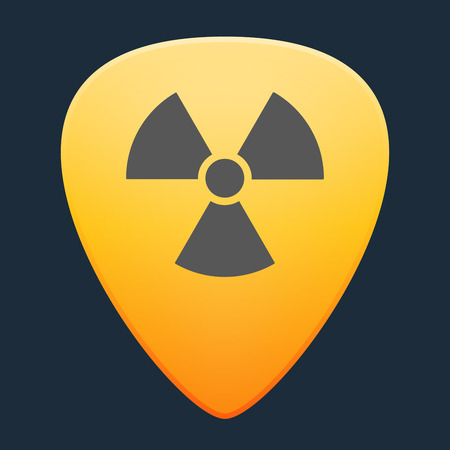 play poison: Illustration of an isolated guitar pick with an icon
