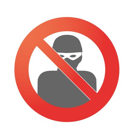 고립 된 금지 신호의 그림