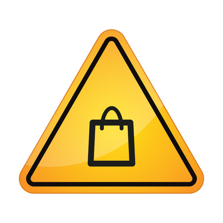 gift accident: Illustration of an isolated danger signal icon