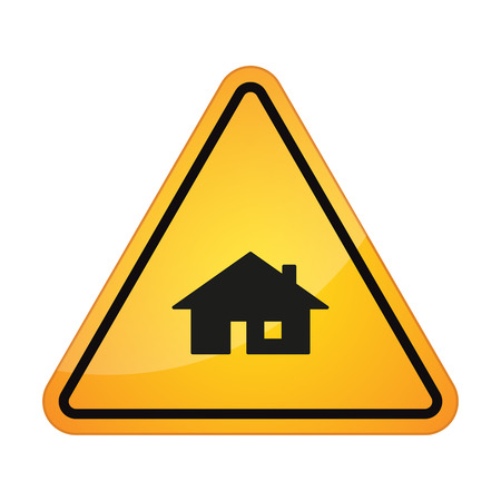 Illustration of an isolated danger signal icon Stock Vector - 27363147