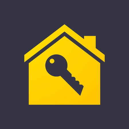 Illustration of an isolated house icon Vector