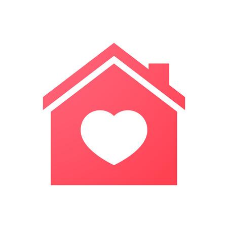 고립 된 집 아이콘의 그림