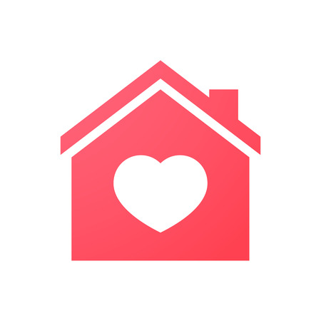 sweet couple: Illustration of an isolated house icon Illustration
