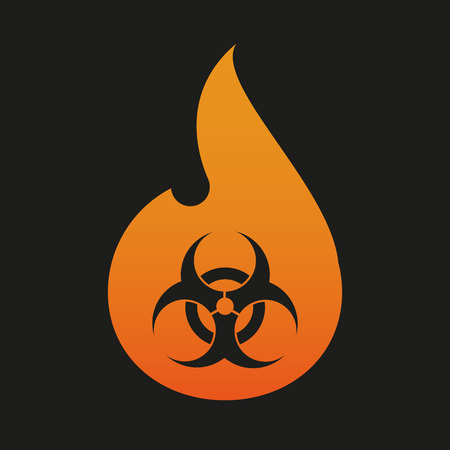 Illustration of an isolated  flame with an icon Vector