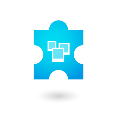 Illustration of an isolated puzzle icon Vector