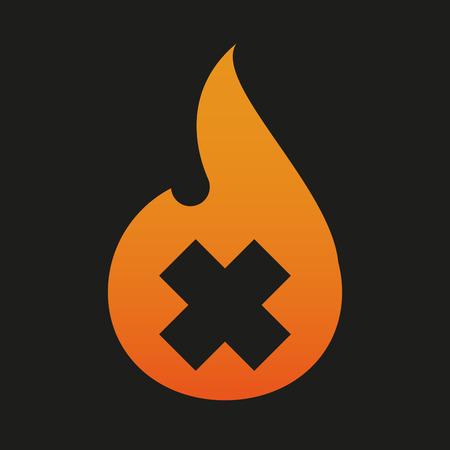 oxidizing: Illustration of an isolated flame icon Illustration