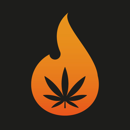 Illustration of an isolated flame icon Illustration
