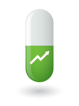 Illustration of an osolated pill with an icon Vector
