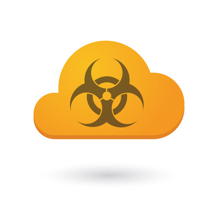 toxic cloud: Illustration of an isolated cloud icon