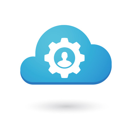 Illustration of an isolated cloud icon Vector
