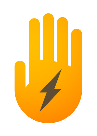 high five: Illustration of an isolated hand icon