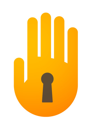Illustration of an isolated hand icon Vector