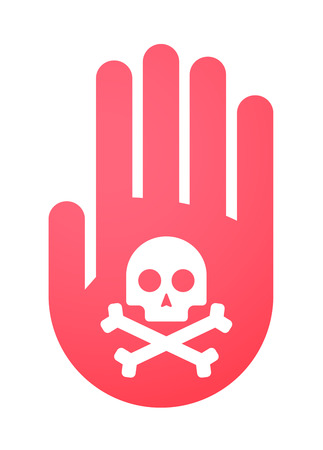 Illustration of an isolated hand icon Stock Vector - 28286322