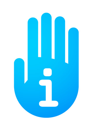 Illustration of an isolated hand icon