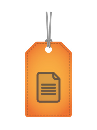 osolated: Illustration of an osolated product label icon