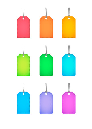 osolated: Illustration of an osolated product label icon set