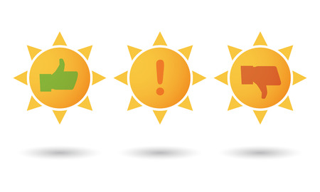 weather report: Illustration of an isolated sun survey icon set