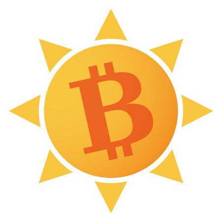 p2p: Illustration of an isolated sun icon Illustration