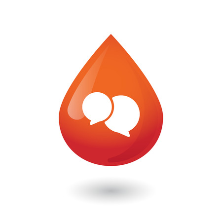 osolated: Illustration of an osolated blood drop icon Illustration