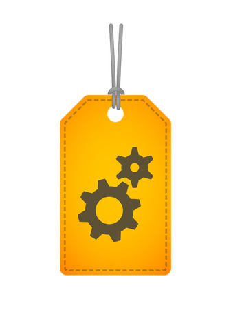 Illustration of an isolated label with an icon Vector