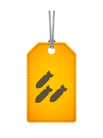 bomb price: Illustration of an isolated label with an icon