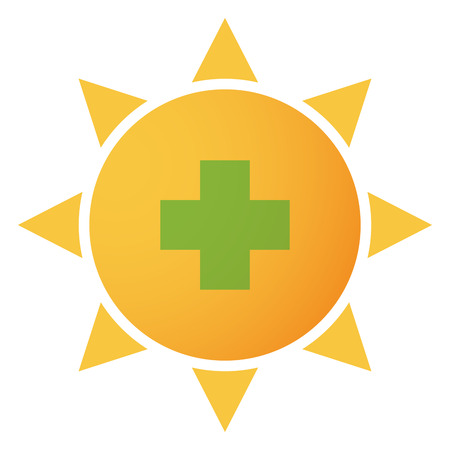 Illustration of an isolated sun icon Vector