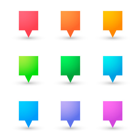 tooltip: Illustration ofn an isolated tooltip icon set