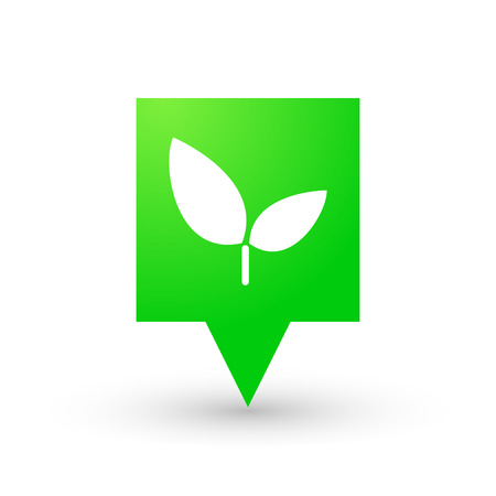 tip of the leaf: Illustration of an isolated tooltip with an icon Illustration