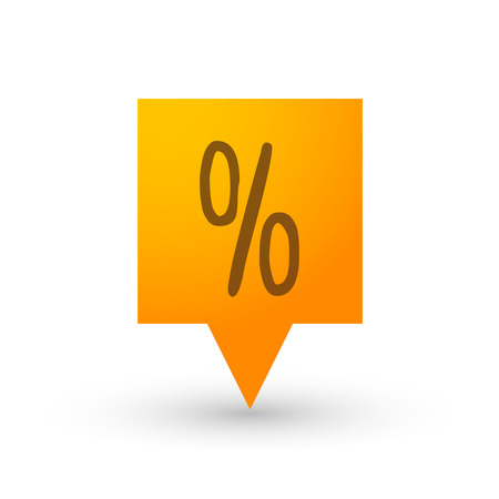 tooltip: Illustration of an isolated orange tooltip icon