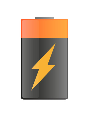 Illustration of an isolated battery with an icon Vector