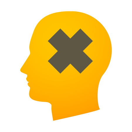 oxidizing: Illustration of an isolated head with an icon