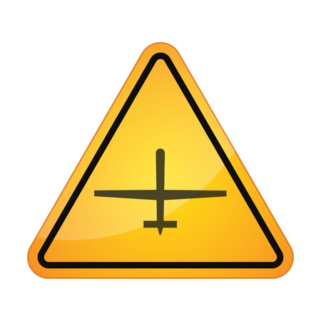 danger symbol: illustration of an isolated airplane signal