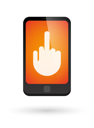 middle finger: Illustration of an isolated phone icon