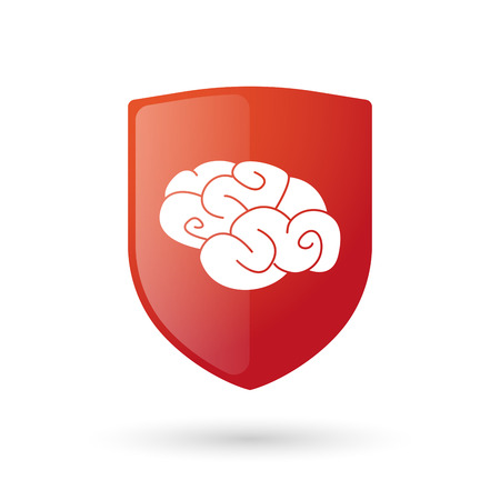Illustration of an isolated shield with an icon Vector