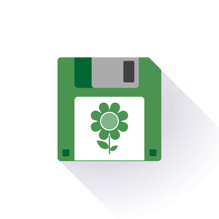 Illustration of an isolated floppy disc icon Vector