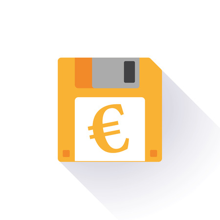 trade union: Illustration of an isolated floppy disk with an icon