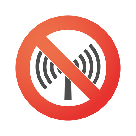 Illustration of a forbidden signal with an icon Vector