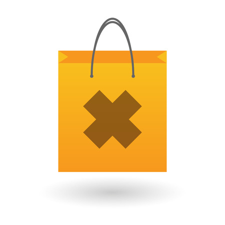 oxidizing: Illustration of an isolated shopping bag with an irritating substance icon