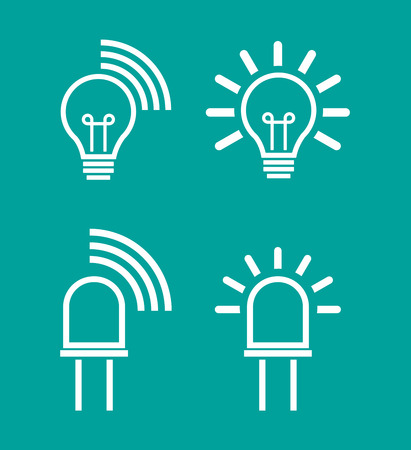 Illustration of an isolated light data transmission device icons Vector