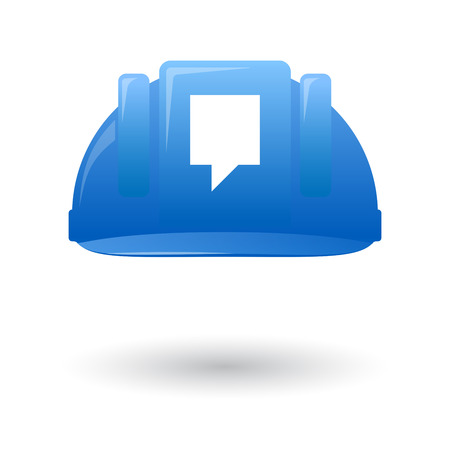 Illustration of an isolated blue work helmet with a tooltyp Vector