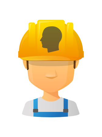 Illustration of an isolated male avatar with a head icon Vector