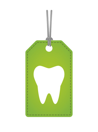 Illustration of an isolated label with a tooth Ilustração