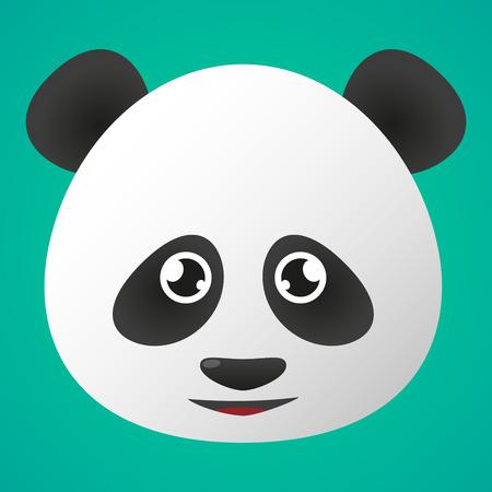 panda cartoon: Illustration of a panda avatar