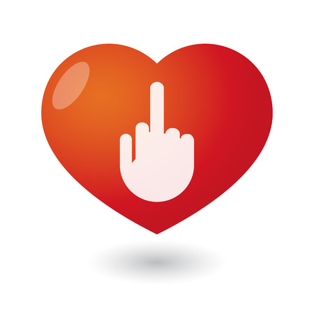 antisocial: Illustration of an isolated heart with a hand Illustration